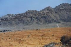Ruwe bergen in Doubai, de V.A.E Royalty-vrije Stock Afbeeldingen