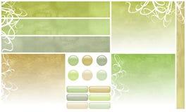 Ruwe Bloemen het Webelementen van Grunge Royalty-vrije Stock Afbeelding