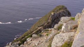 Ruwe cliffside van Kaap van Goede Hoop stock footage