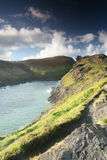 Ruwe cornwal kust boscastle Stock Foto