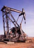 Ruwe de Extractiemachine van Texas Oil Pump Jack Fracking Stock Afbeelding