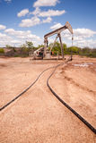 Ruwe de Extractiemachine van Texas Oil Pump Jack Fracking Royalty-vrije Stock Fotografie