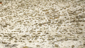 ruwe de textuur dichte omhoog horizontaal van de muursteen van kasteel in Lucern Royalty-vrije Stock Afbeelding