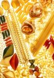 Ruwe deegwarenachtergrond Royalty-vrije Stock Foto