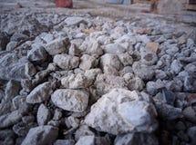 Ruwe die complexen met cement en stof worden behandeld royalty-vrije stock fotografie