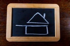 Ruwe die schets van huisgekookt voedsel in Franse restaurants wordt gebruikt Stock Foto's