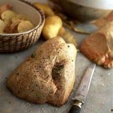 Ruwe eend foie gras Stock Afbeeldingen