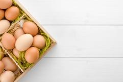 Ruwe eieren Stock Foto