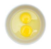 Ruwe eieren in een plaat. Royalty-vrije Stock Afbeelding