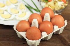 Het koken van eieren royalty-vrije stock fotografie