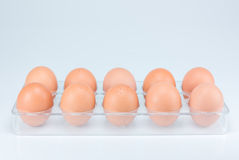 Ruwe eieren op witte achtergrond Royalty-vrije Stock Afbeelding