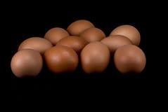 Ruwe eieren op witte achtergrond Royalty-vrije Stock Fotografie