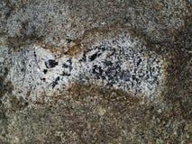 Ruwe en korrelige concrete oppervlakte met vlekken Royalty-vrije Stock Afbeelding