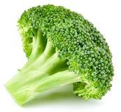 Ruwe geïsoleerde broccoli stock foto's
