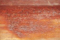 Ruwe gegalvaniseerde de muurachtergrond van het grunge roestige zink tin Stock Afbeeldingen