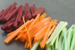 Ruwe gehakte groenten stock foto