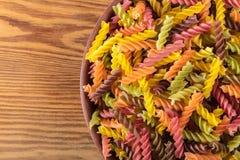 Ruwe gekleurde deegwaren Stock Foto