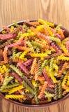 Ruwe gekleurde deegwaren Royalty-vrije Stock Foto's