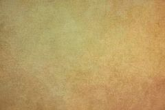 Ruwe gerimpelde gele document achtergrond Stock Foto