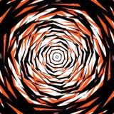 Ruwe gespannen patroon of textuur in één kleur en zwarte Stock Afbeelding