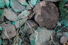 Ruwe geweven stijve geografische rotsen royalty-vrije stock foto's