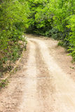 Ruwe grintweg Royalty-vrije Stock Afbeelding