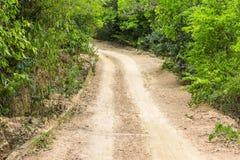 Ruwe grintweg Royalty-vrije Stock Fotografie