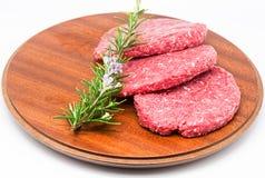 Ruwe Hamburger Stock Foto's