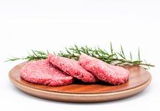 Ruwe Hamburger Stock Afbeelding