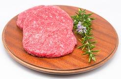 Ruwe Hamburger Stock Foto
