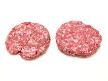 Ruwe hamburger Royalty-vrije Stock Foto's