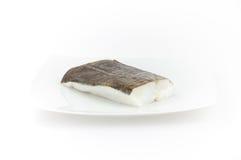 Ruwe kabeljauwvissen. Zeevruchten voor sushi en andere schotels Royalty-vrije Stock Afbeelding