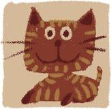 Ruwe kat vector illustratie