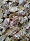 Ruwe kippenbenen en aardappels Stock Foto