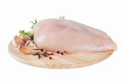 Ruwe kippenfilet Royalty-vrije Stock Afbeeldingen