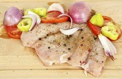 Ruwe kippenfilet Stock Foto