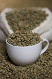 Ruwe koffiebonen Royalty-vrije Stock Foto's