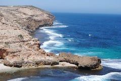 Ruwe kustlijn Royalty-vrije Stock Afbeelding