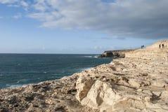 Ruwe kustlijn stock afbeelding
