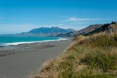 Ruwe kustlijn van Kaikoura, Nieuw Zeeland Royalty-vrije Stock Foto's