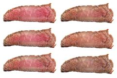 Ruwe lapjes vlees die graden braden: zeldzame, blauwe, middelgrote, middelgrote zeldzaam, medi Royalty-vrije Stock Foto