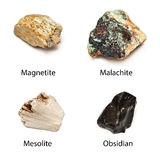 Ruwe mineralen royalty-vrije stock foto's
