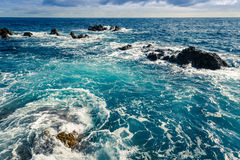 Ruwe oceaan royalty-vrije stock foto