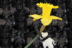 Ruwe olieverontreiniging Royalty-vrije Stock Afbeelding