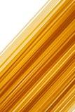 Ruwe ongekookte Italiaanse Spaghettii-achtergrond stock afbeeldingen