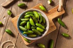 Ruwe Organische Groene Vingerkalk Royalty-vrije Stock Afbeeldingen