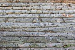 Ruwe oude muur van logboek Royalty-vrije Stock Afbeeldingen