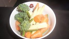 Ruwe plantaardige salade Stock Foto