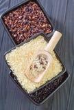 Ruwe rijst Royalty-vrije Stock Afbeeldingen