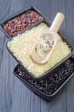 Ruwe rijst Royalty-vrije Stock Foto's